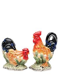 Chanticleer Salt & Pepper Shakers