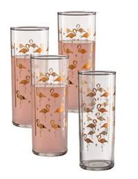 Gilded Flamingo Cocktail Glasses (Set Of 4)