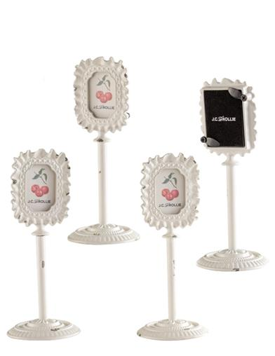 Ivory Ribbon Pedestal Frame (Set Of 4)