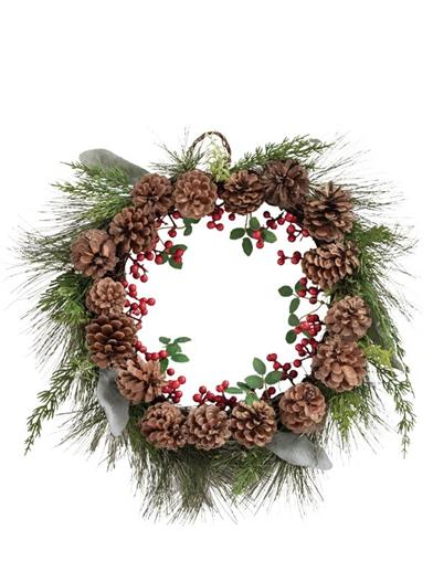 Classic Christmas Pinecone Wreath