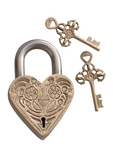 Floral Heart Love Lock
