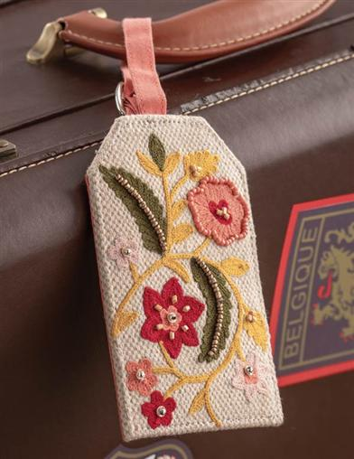 Embroidered Garden Luggage Tag (Set Of 2)