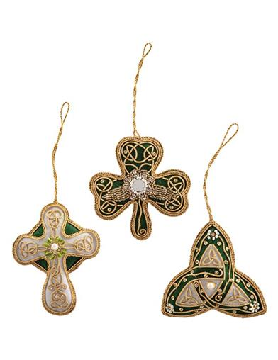 Celtic Christmas Ornaments (Set Of 3)