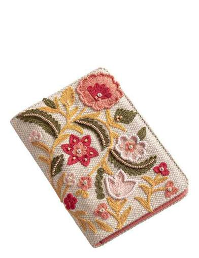 Embroidered Wildflower Wallet