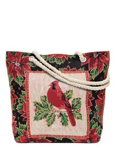 Colourful Cardinal Tapestry Tote