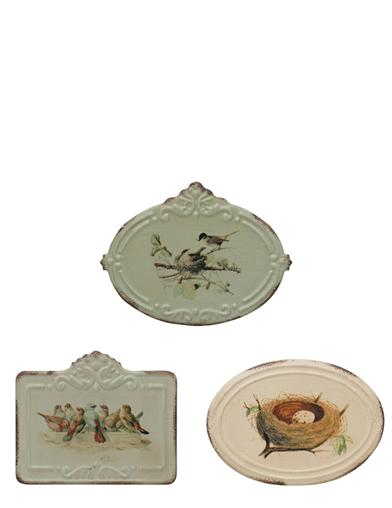Vintage Bird Tins (Set Of 3)