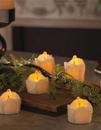 Drippy Faux Tealight (Set Of 4)