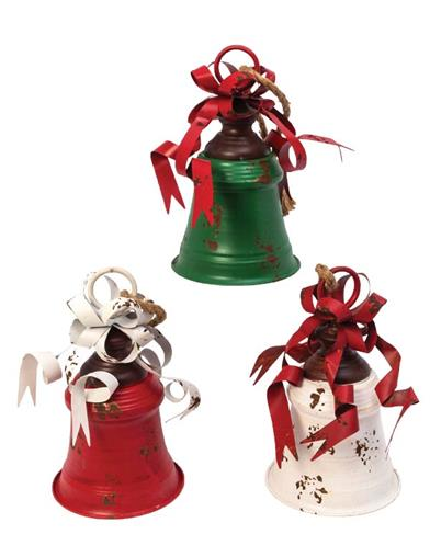 Christmas Bells Are Ringing Metal Bells (Set Of 3)