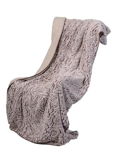 Virah Bella Rose Hooded Sherpa Throw