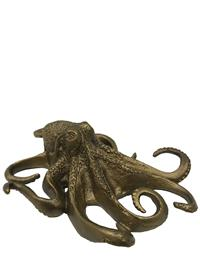 Antique Brass Octopus Paperweight