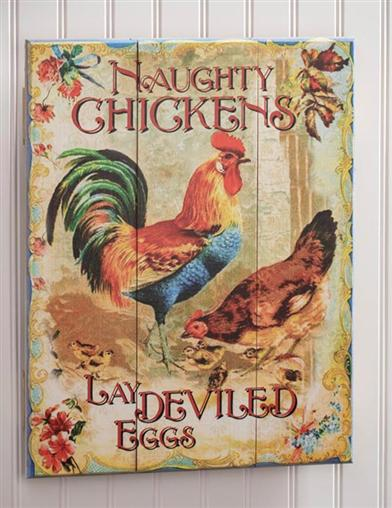 Naughty Chickens Wall Art
