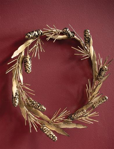Gilded Pine Cone Wreath