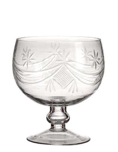 Classical Elegance Etched Glass Bowl
