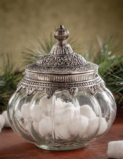 Classical Elegance Glass Jar With Metal Lid