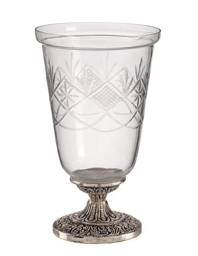 Classic Elegance Etched Glass Candle Holder
