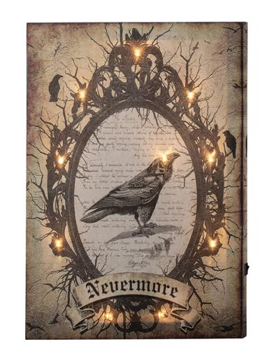 Nevermore Lighted Canvas