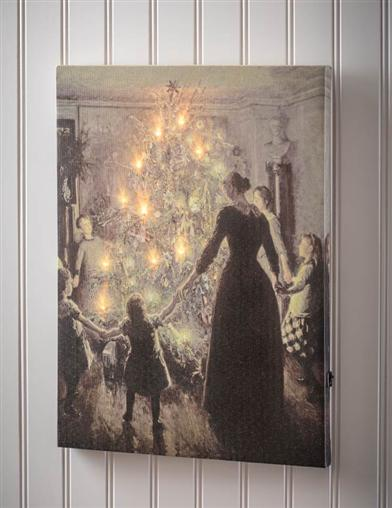 Silent Night Lighted Canvas