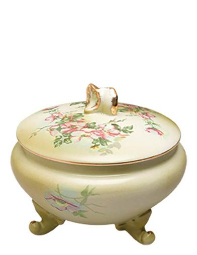 Painted Primrose Covered Vanity Dish