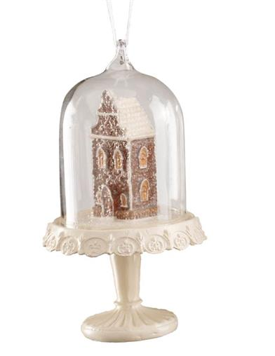 Gingerbread House Cloche Ornaments (Set Of 3)