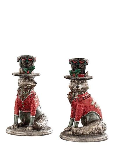Regal Reynard Candle Holders (Pair)
