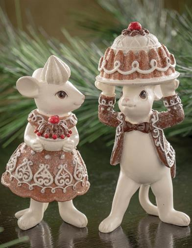 Hans & Greta Gingerbread Mice Figurines (Set Of 2)