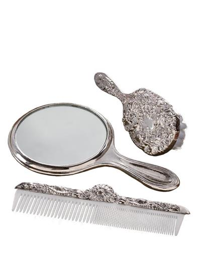 Brush, Comb, And Mirror Gift Set