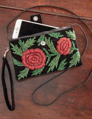 Midnight Rose Purse