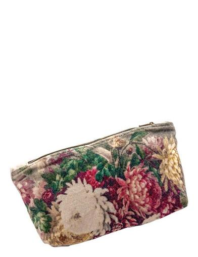 Fine Floral Flair Zippered Pouch