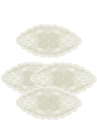 Heirloom Rose Lace Doilies (Set Of 4)