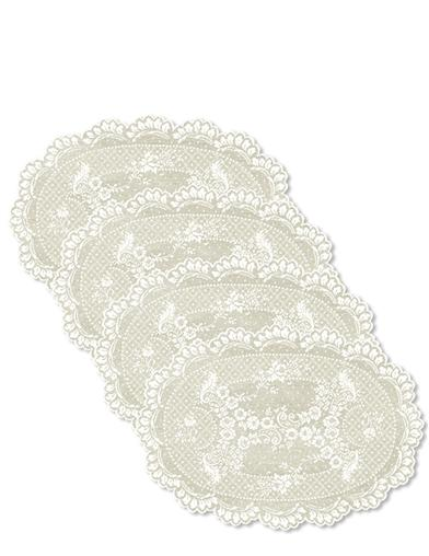 Heirloom Rose Lace Placements (Set Of 4)