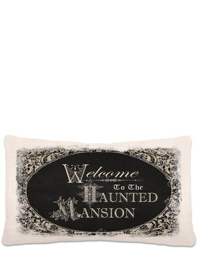 Welcome To The Haunted Mansion Throw Pillow