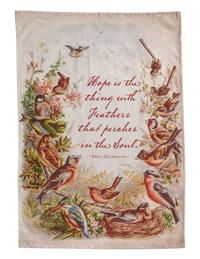 Hope Is The Thing With Feathers Tea Towel