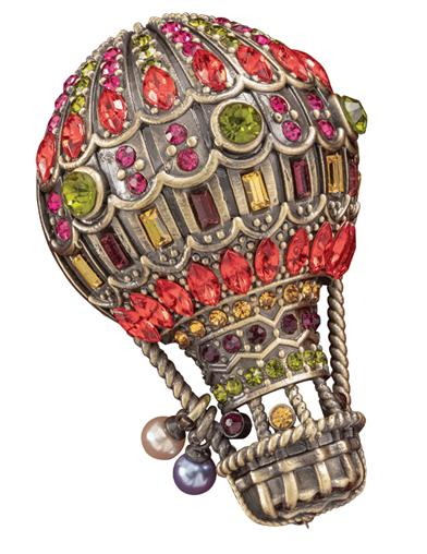 High Spirits Hot Air Balloon Brooch