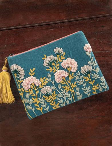 Graceful Garden Zippered Pouch