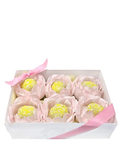 Sweet Blooms Cake Truffles (Box Of 6)
