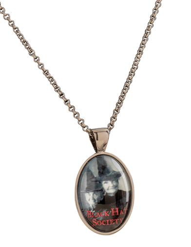 Black Hat Society Pendant Necklace