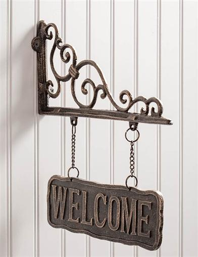 Baroque Bracket Welcome Sign