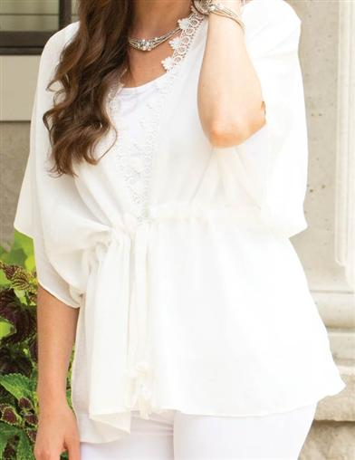 Heidi White Lace Tunic