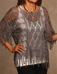 Nora Crocheted Lace Blouse
