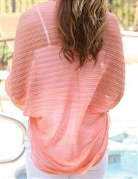 Peach Scallop Shrug Scarf