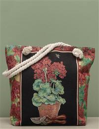 Red Geranium Tapestry Tote