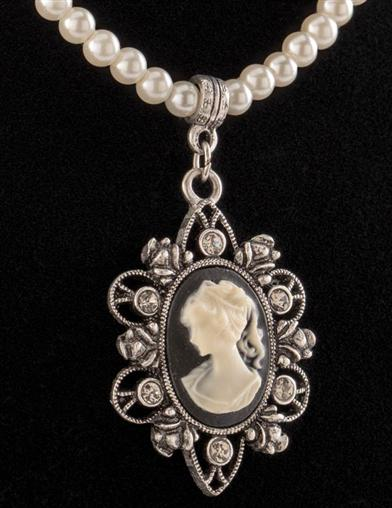 Downton Abbey Cameo Necklace