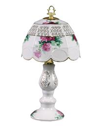 Cabbage Rose Boudoir Lamp (Drop Ship)