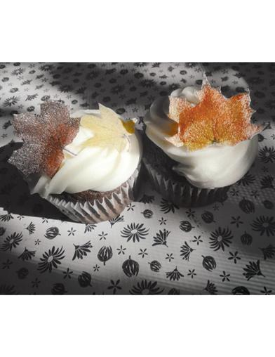 Sugar Maple Autumn Leaves Edible Art (Set Of 24)