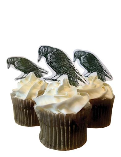 Midnight Ravens Edible Art (Set Of 24)