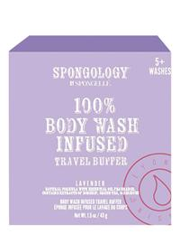Lavender Body Wash Infused Travel Buffer