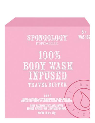 Rose Body Wash Infused Travel Buffer