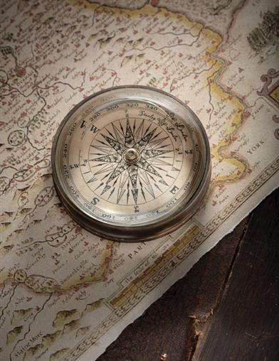 The Journey Vintage Compass Paperweight
