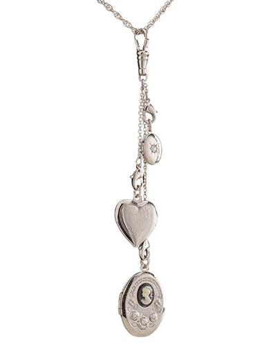 Simply Charming Silver Locket Necklace