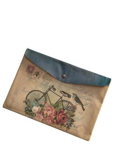 Victorian Ephemera Bicycle Snap Pouch
